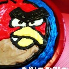 Angry Birds Brownie @KatrinasKitchen