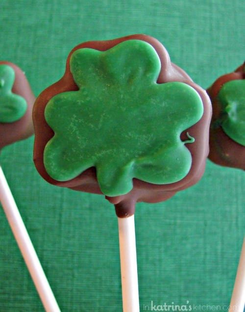 Mint Oreo Truffles (shaped into shamrocks) Recipe