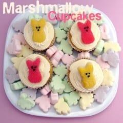 Marshmallow Cupcakes + Marshmallow Frosting #recipe from @katrinaskitchen