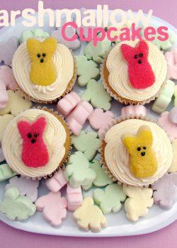 Marshmallow Cupcakes + Marshmallow Frosting