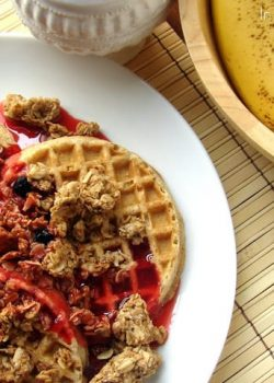 Pomegranate Granola and Syrup