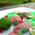Cherry Lime Popsicles #recipe from @KatrinasKitchen