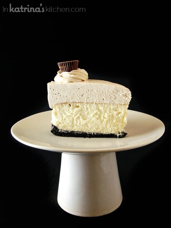 Peanut Butter Truffle Mousse Cheesecake Recipe- I'm making this ASAP