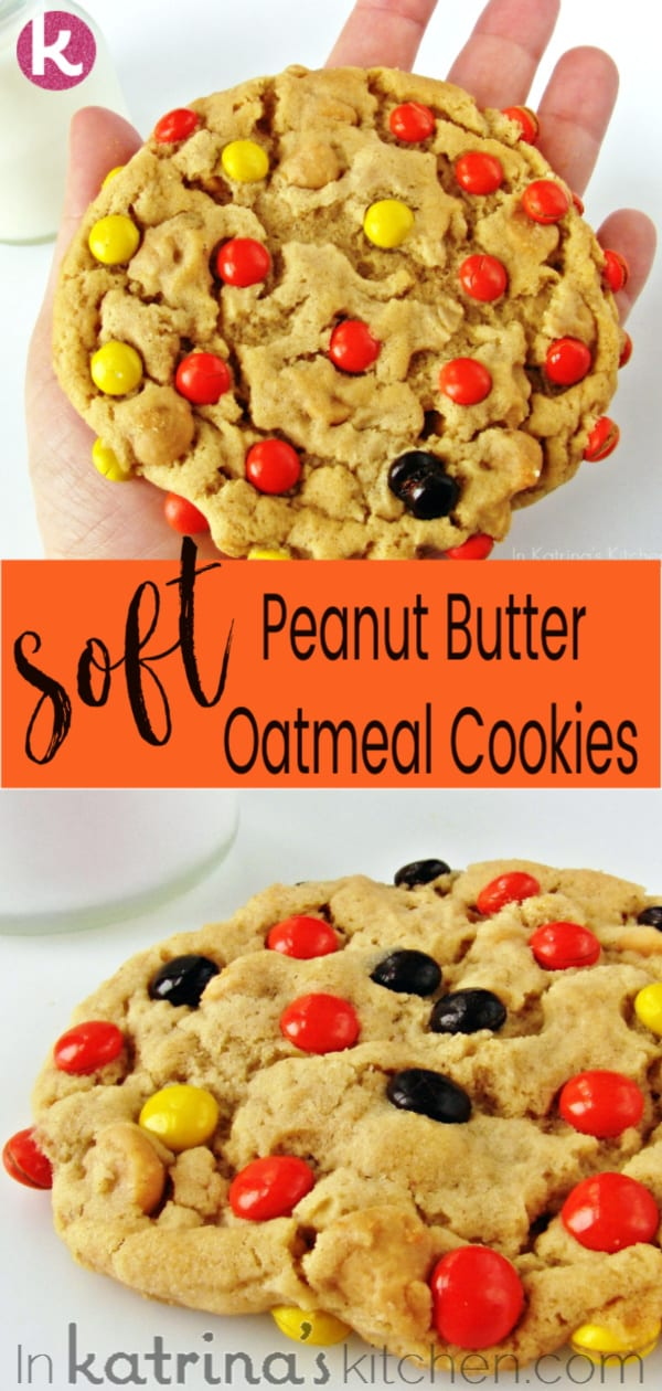 Soft Peanut Butter Oatmeal Cookies Recipe