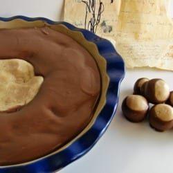 Peanut Butter Buckeye Pie from @KatrinasKitchen