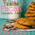 Praline Pecan Chocolate Chip Cookies from Confessions of a Cookbook Queen on @KatrinasKitchen