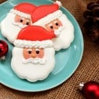 Santa Face Cookies from Sweet Sugarbelle #BringtheCOOKIES