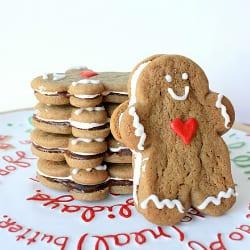 Gingerbread Men Sandwich Cookies