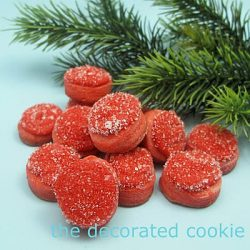 Cranberry Cookie Bites from The Decorated Cookie on @KatrinasKitchen