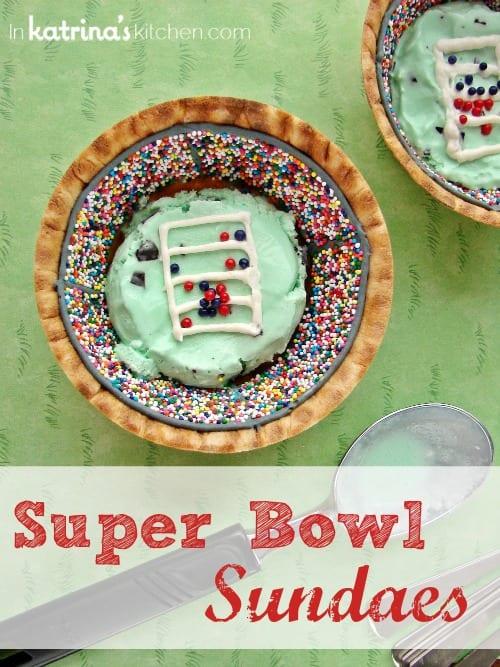 Super Bowl Ice Cream Sundaes