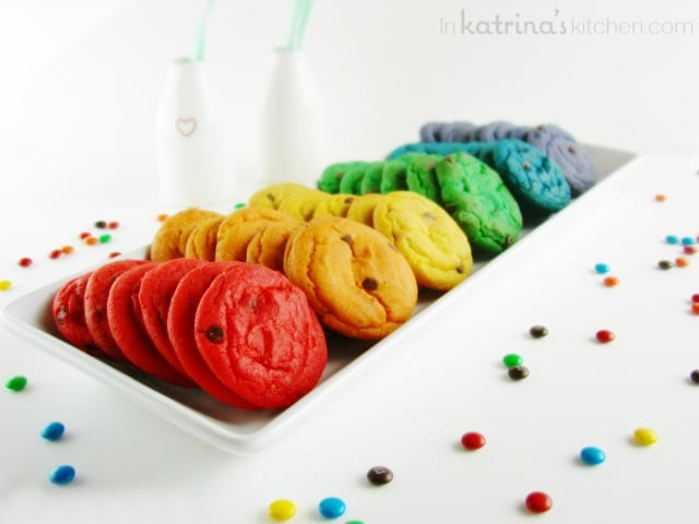 Rainbow Chocolate Chip Cookie Recipe with candies