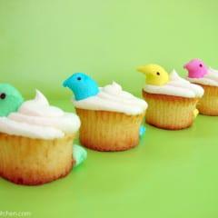 Peeps Peek-a-Boo Cupcakes