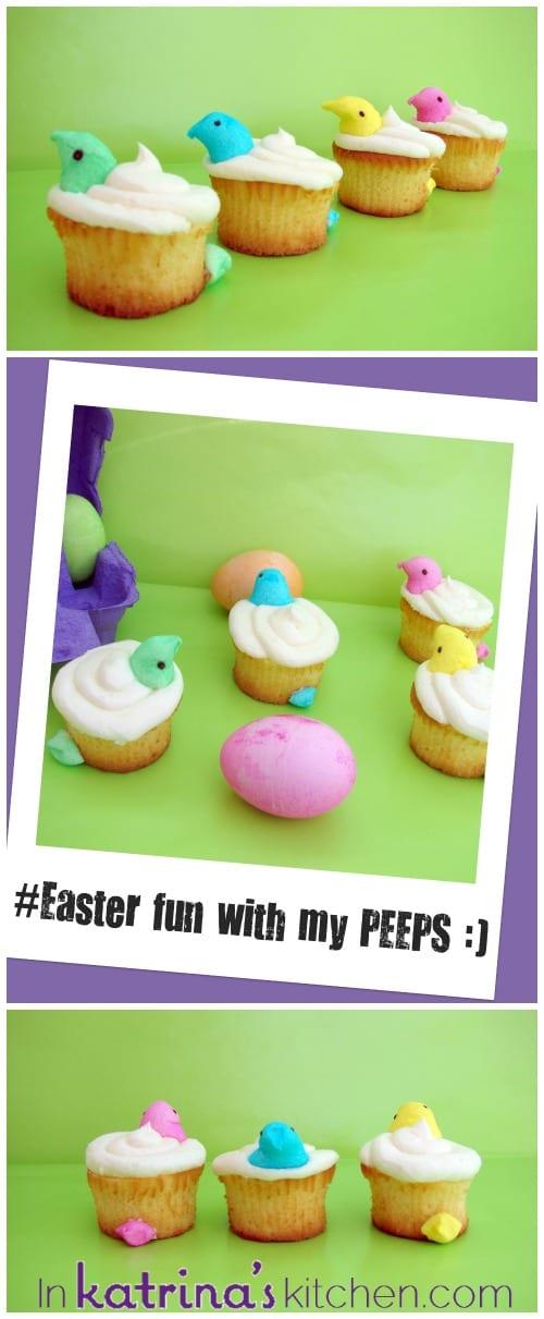EASY Peeps Cupcakes