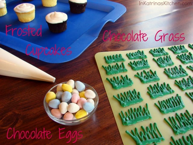 Easter Egg Hunt Cupcakes Prep