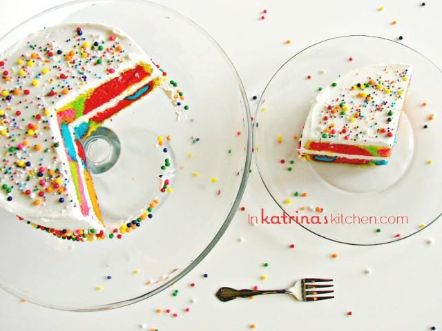 Rainbow Cake Recipe and Tutorial