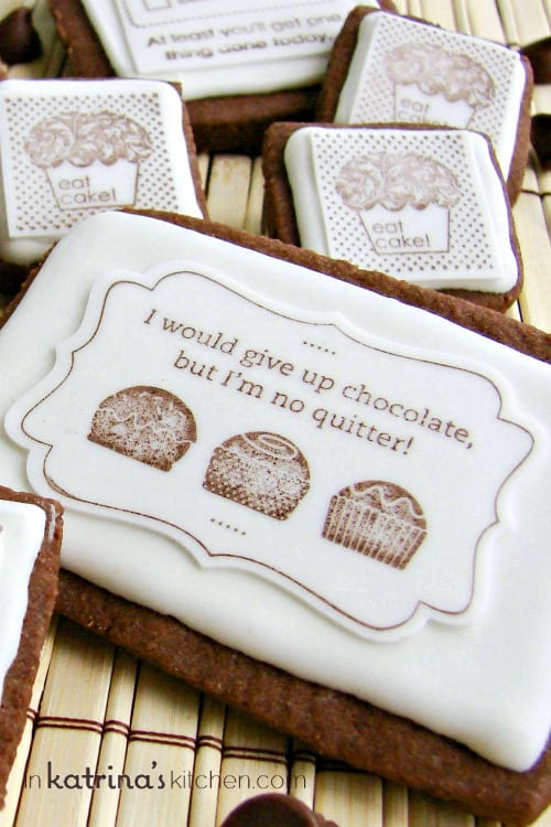 Chocolate Stamped Cookies Recipe and Tutorial