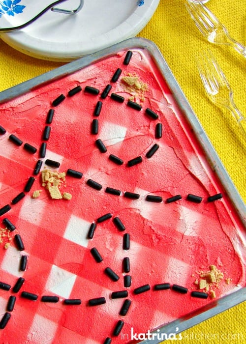 Checkered Picnic Table Cookie Bar Recipe
