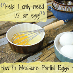 How to Measure Partial Eggs for Baking