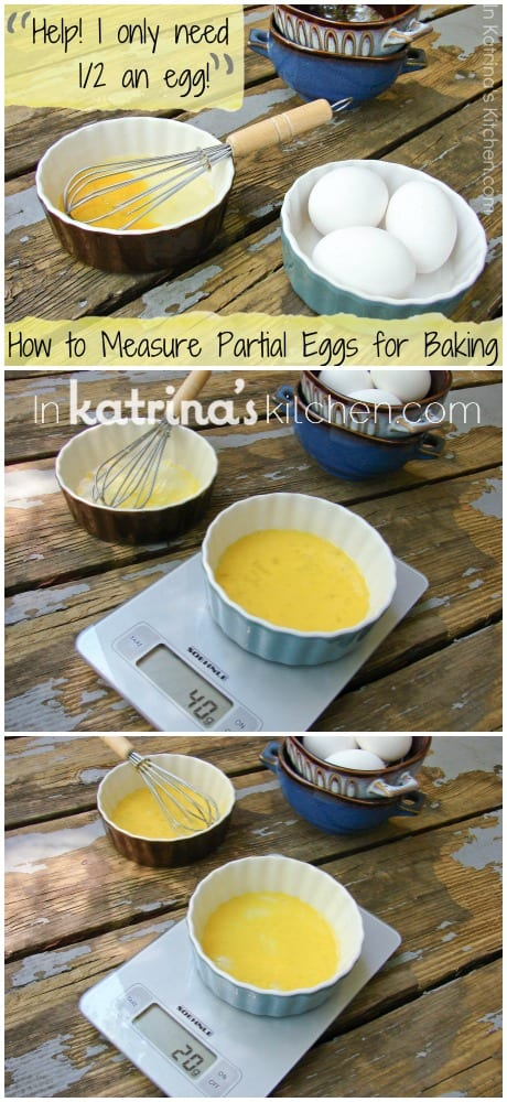 How to effortlessly measure partial eggs for baking when you only need half an egg
