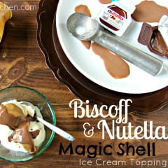 Biscoff and Nutella Magic Shell Ice Cream Topping *Two Ingredients* @katrinaskitchen