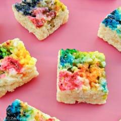 Tie Dyed Rice Krispie Treats @KatrinasKitchen