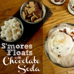S'mores Floats with Chocolate Soda