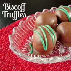 Biscoff Truffles {like peanut butter buckeyes but #nonuts , #peanutfree !!} @katrinaskitchen