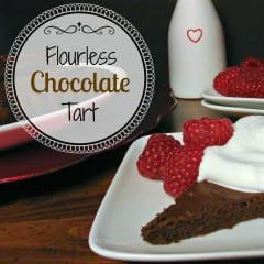Flourless Chocolate Tart @katrinaskitchen