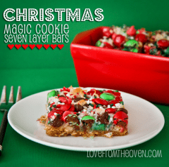 Christmas Magic Cookie Bars from Love From The Oven on inkatrainskitchen... #BrintheCOOKIES