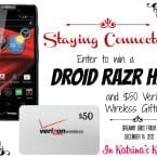 Droid RAZR HD Giveaway and Verizon Wireless Giftcard **ends December 14** #BringtheCOOKIES