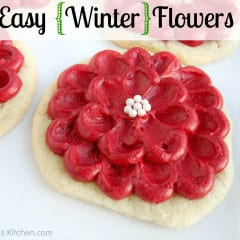 Easy Winter Flower Cookie Tutorial @katrinaskitchen