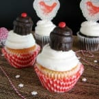 Top your cupcake with a cupcake pop! Plus a Creative Desserts Celebrate Crate GIveaway www.inkatrinaskit...
