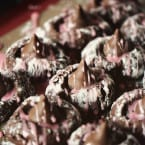 Black Forest Kiss Thumbprint Cookies from Pass the Sushi at inkatrinaskitchen... #BringtheCOOKIES