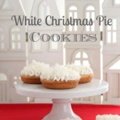 White Christmas Pie Cookies inkatrinaskitchen.com from Created by Diane #BringtheCOOKIES