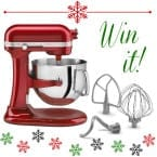 Win a KitchenAid mixer at inkatrinaskitchen... Enter by Dec. 26 #BringtheCOOKIES