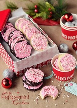 Cake Mix Peppermint Cookies from TidyMom @KatrinasKitchen