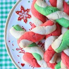Peppermint Stick Cookies from Munchkin Munchies inkatrinaskitchen... #BringtheCOOKIES