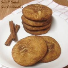 Small Batch Snickerdoodles inkatrinaskitchen... by Dollhouse Bake Shoppe #BringtheCOOKIES