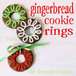 Gingerbread Cookie Rings from @Meaghan Mountford on inkatrinaskitchen... #BringtheCOOKIES