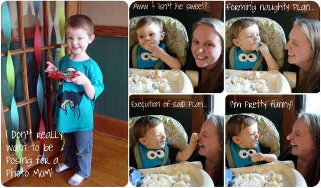 collage of children with text on photos as an example
