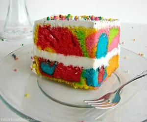 Rainbow Swirl Cake @KatrinasKitchen