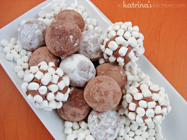 2 Ingredient Hot chocolate Truffles - www.inkatrinaskitchen.com