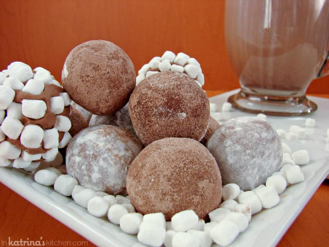 2 Ingredient Hot Chocolate Truffles from @KatrinasKitchen