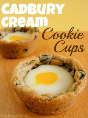 Cadbury Cream Cookie Cups Recipe | www.inkatrinaskitchen.com