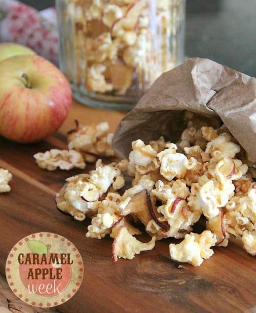 Cookies and Cups | Caramel Apple Popcorn