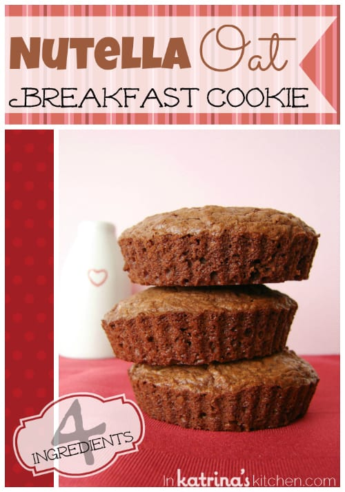Nutella Breakfast Cookies Recipe | www.inkatrinaskitchen.com