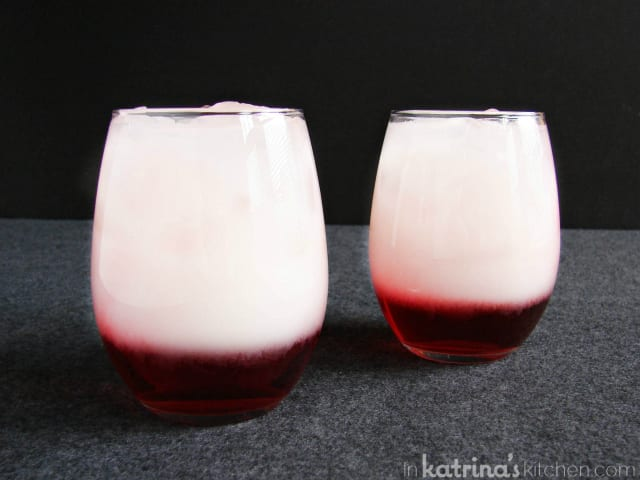 Layered Drinks for 2 are non-alcoholic and so easy!