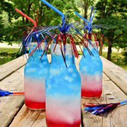 July Fourth Layered Drink Tutorial | www.inkatrinaskitchen.com