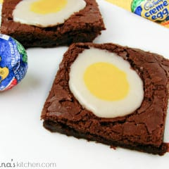 Homemade Cadbury Cream Egg Brownies #recipe | www.inkatrinaskitchen.com