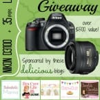 Lucky Day Giveaway Nikon d3100 with 35mm lens | www.inkatrinaskitchen.com
